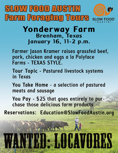 slow food austin farm tour: yonder way farm